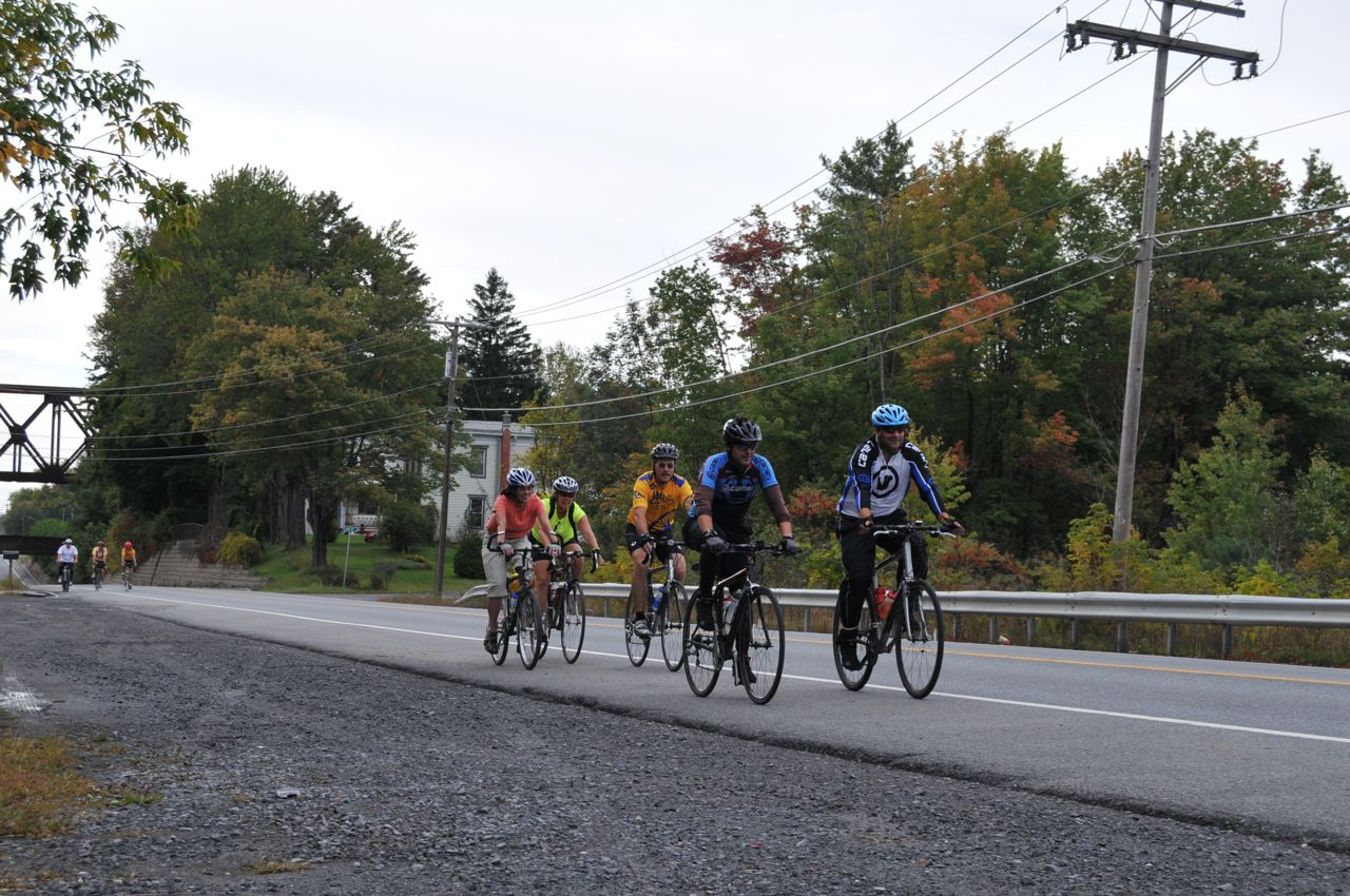 Cycling with group in Albany